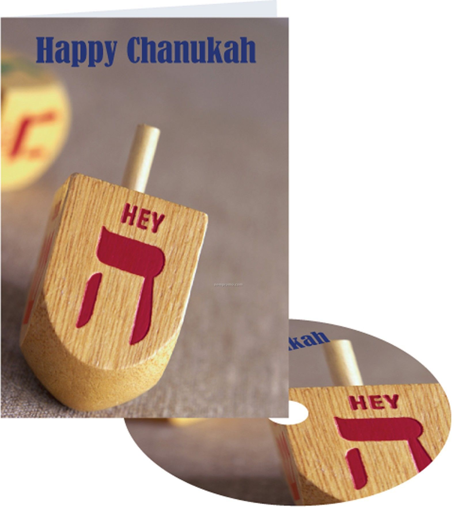 Happy Chanukah Greeting Card With Matching CD