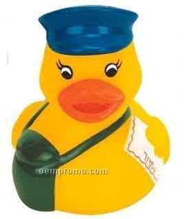 Mini Rubber Mailman Duck