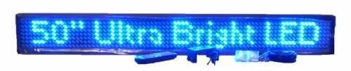 """50"""" Blue Semi-outdoor LED Sign"""