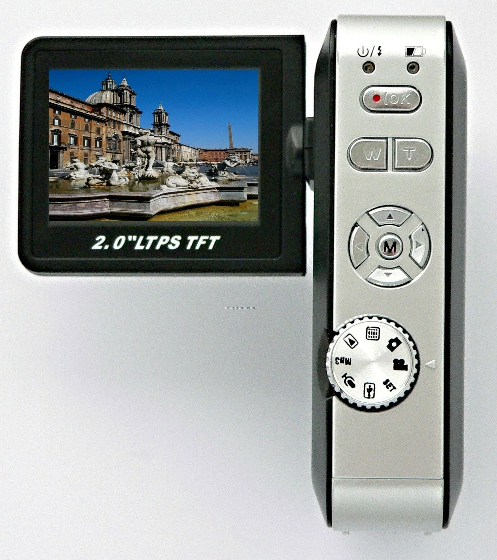 """Digital Camcorder With 2"""" Full Color Flip Out Screen."""