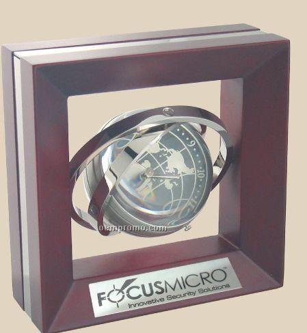 Gyro-globe Clock & Frame