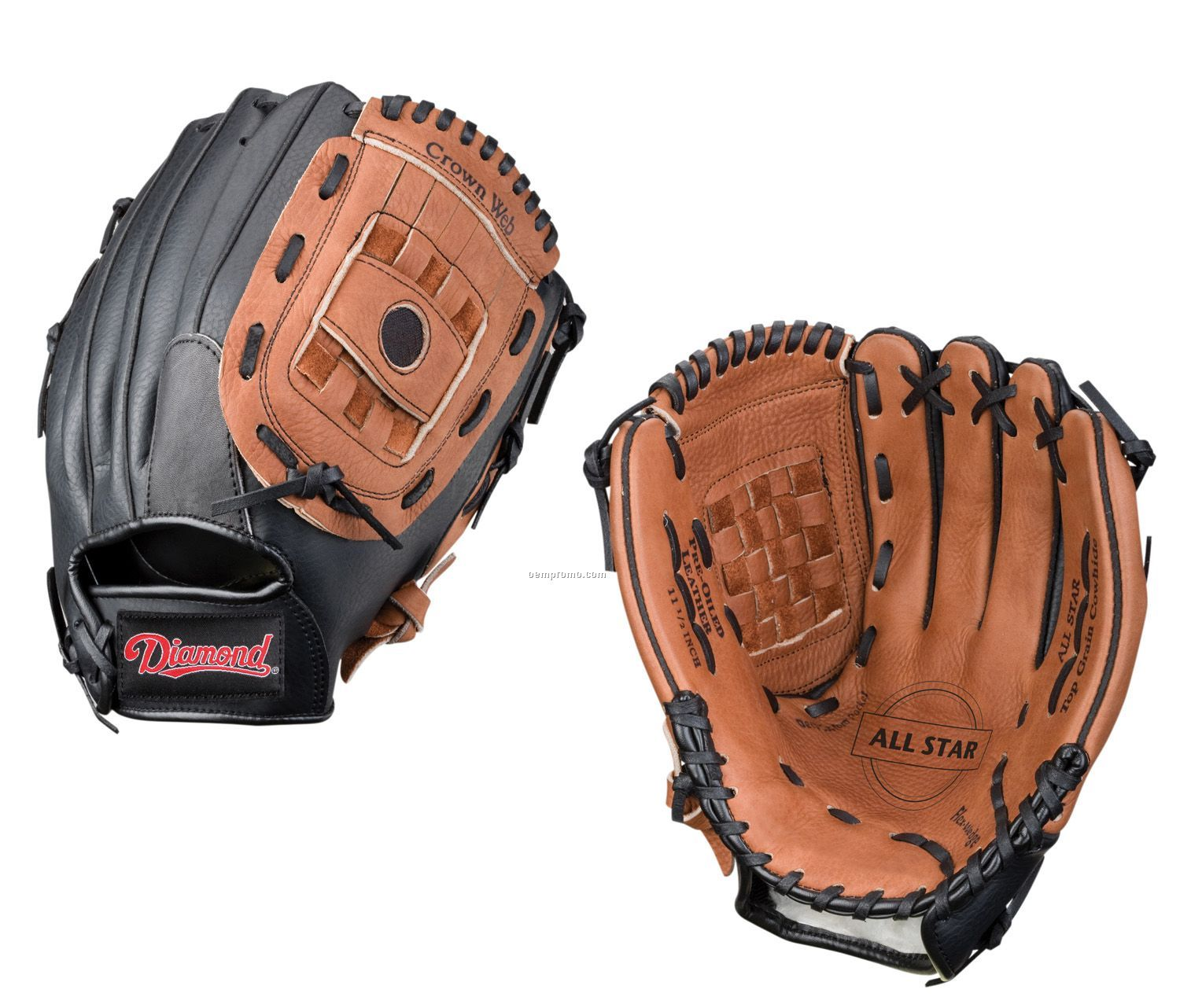 """Diamond 11.5"""" Youth Baseball Glove For Right Handed Thrower"""