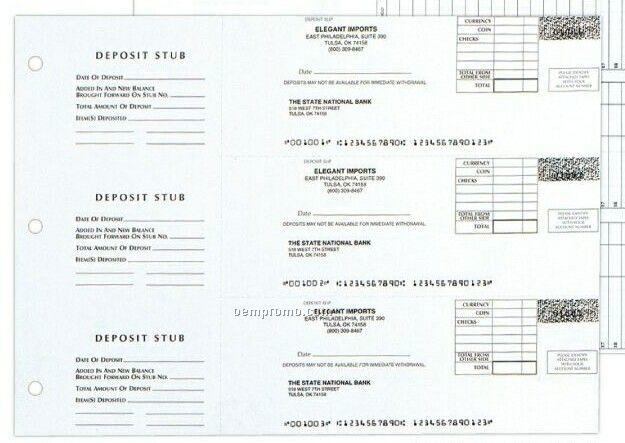 Three-to-a-page-deposit Slip