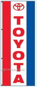 Double Face Dealer Free Flying Drape Flags - Toyota
