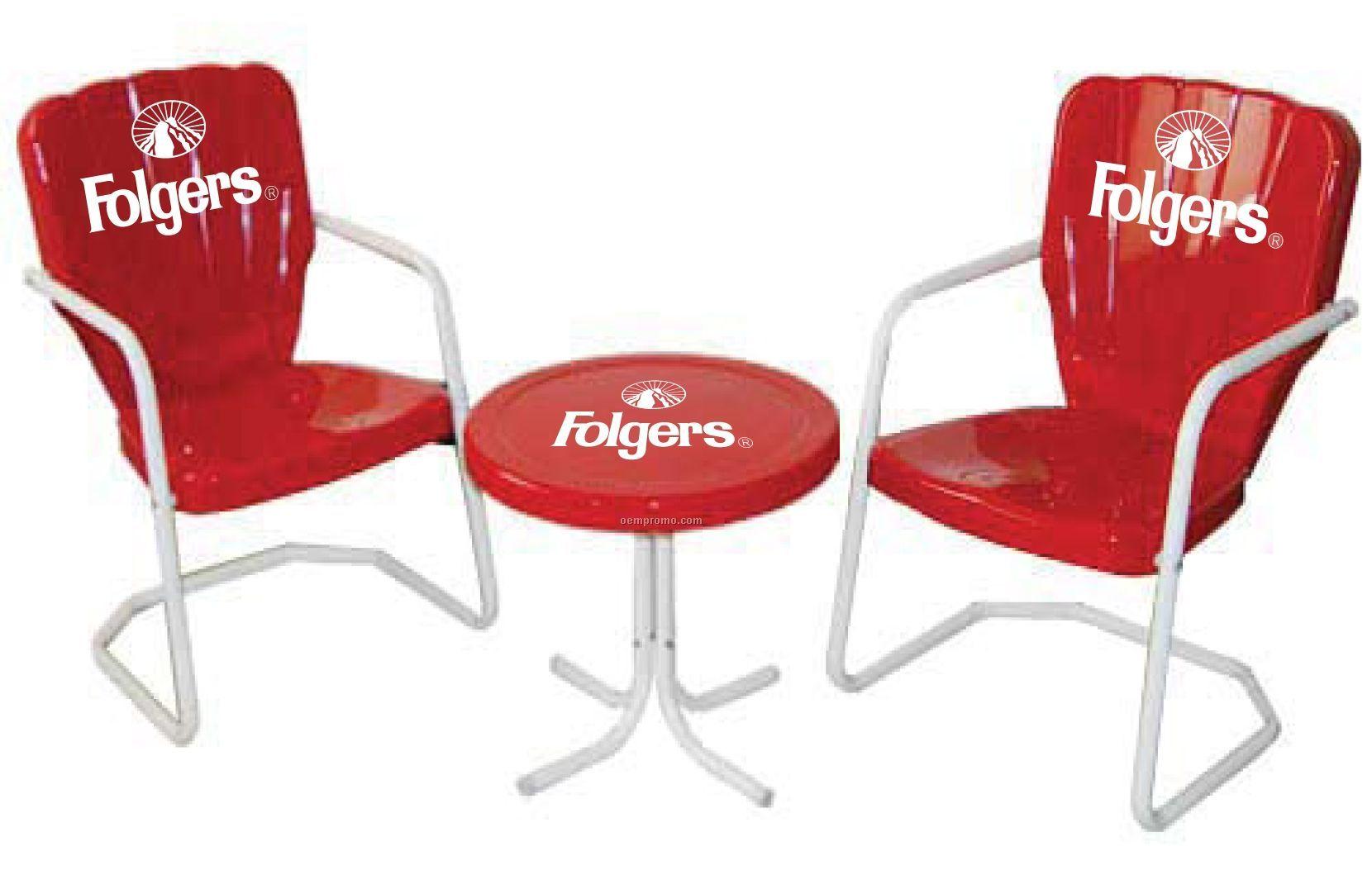 Retro Thunderbird Chair Patio Set