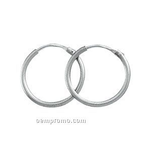 13mm Ladies' Platinum Hoop Earring