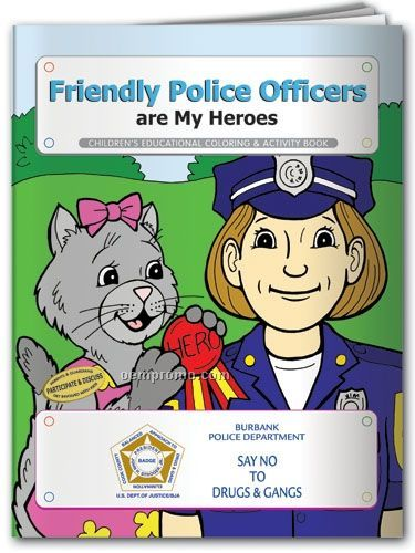 Action Pack Color Book W/ Crayons & Sleeve - Police Officers Are My Heroes