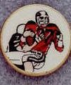 "Mini Deal 7/8"" Insert Football Player - Medallions Stock Kromafusion"