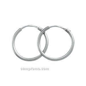 15-1/4mm Ladies' Platinum Hoop Earring