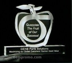 Acrylic Paperweight Up To 16 Square Inches / Apple On Rail