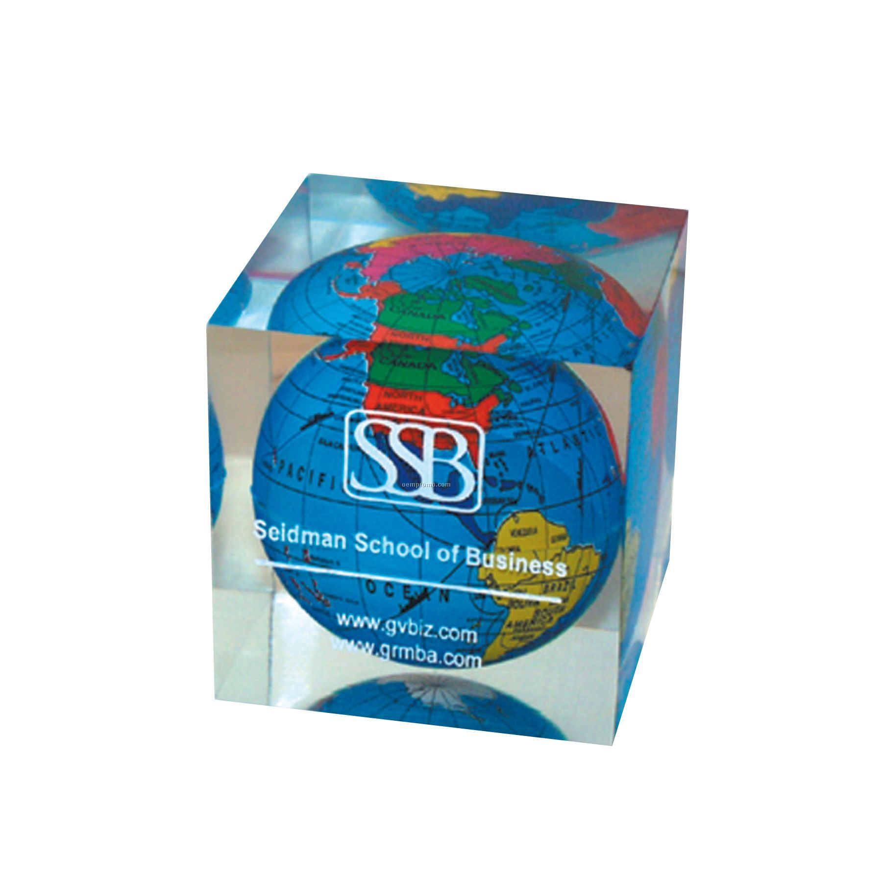 Global Paperweight - Square