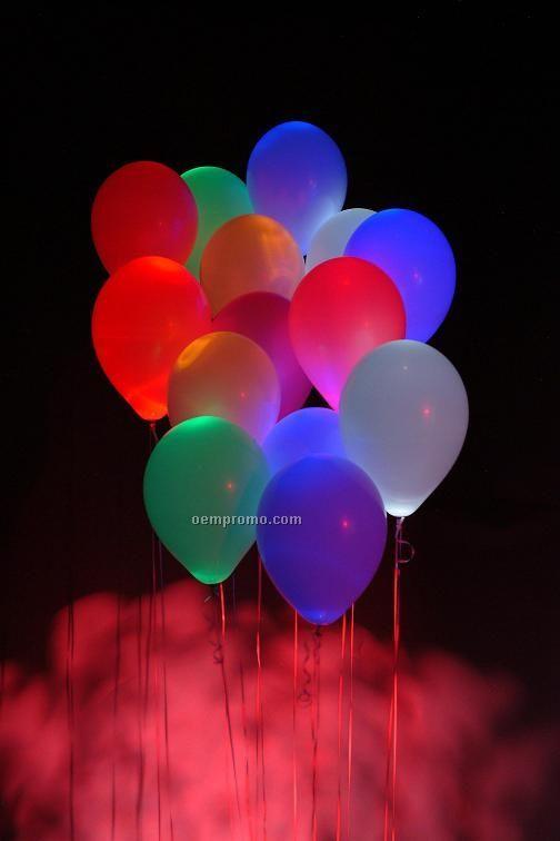 Pink Balloon Light W/ White LED