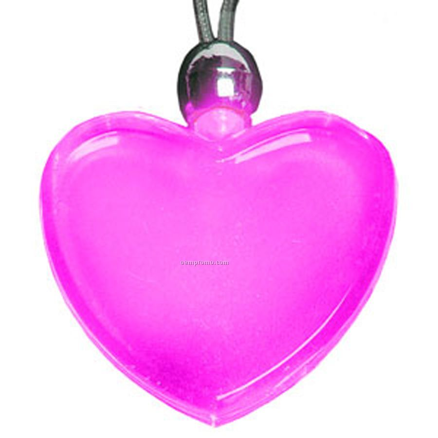 Pink Heart Light Up Pendant Necklace