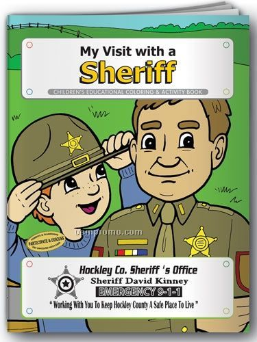 Fun Pack Coloring Book W/ Crayons - My Visit With A Sheriff
