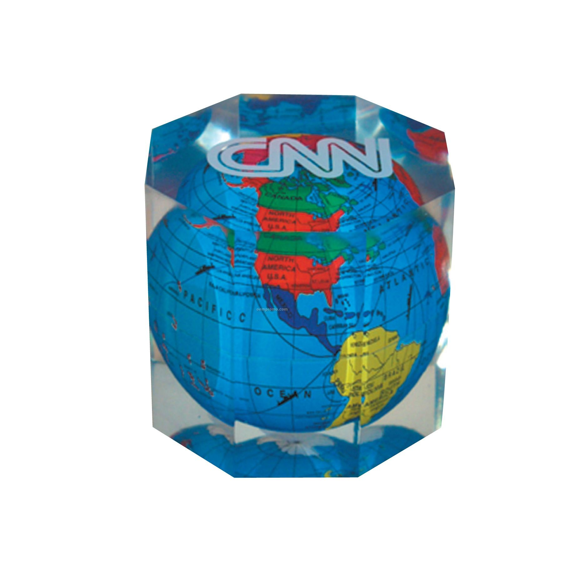 Global Paperweight - Octagon