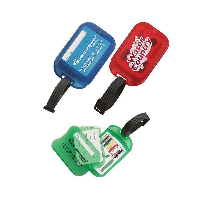 Luggage Tag W/Swiveling Mini Sewing Kit