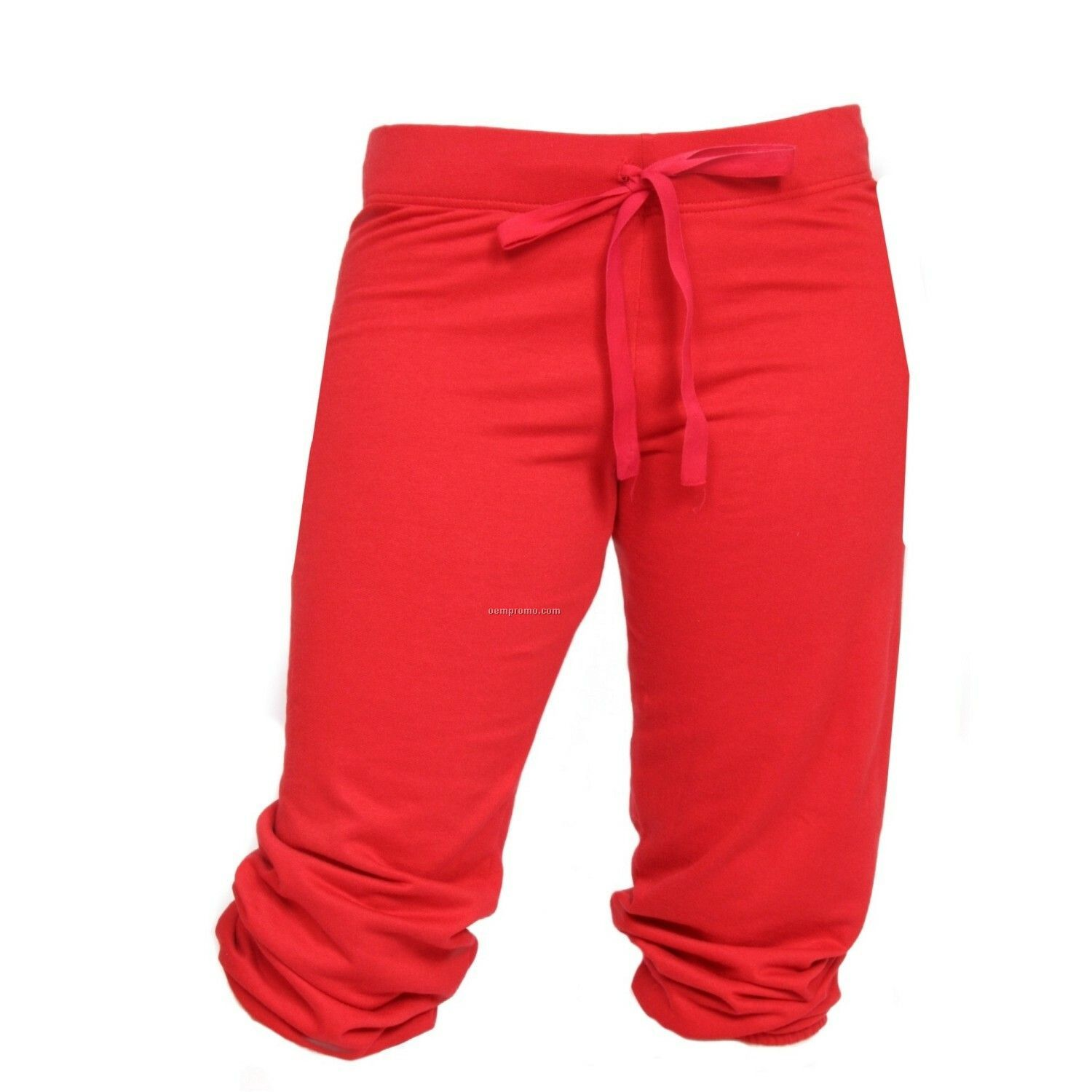 Adult Red Touchdown Cuffed Sweat Capris