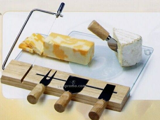 Picnic Plus Lucerne Cheese Board W/ 4 Stainless Steel Tools