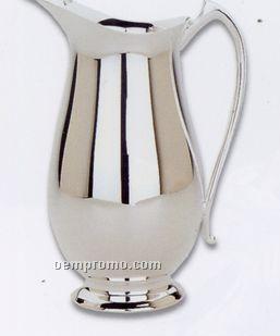 Silverplated 2 Quart Pitcher Barware W/ Ice Guard