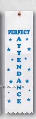 Stock Award Ribbon (Card & String) - Perfect Attendance