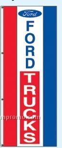 Double Face Dealer Free Flying Drape Flags - Ford Trucks