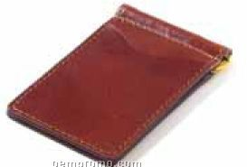Glazed Leather Money Clip