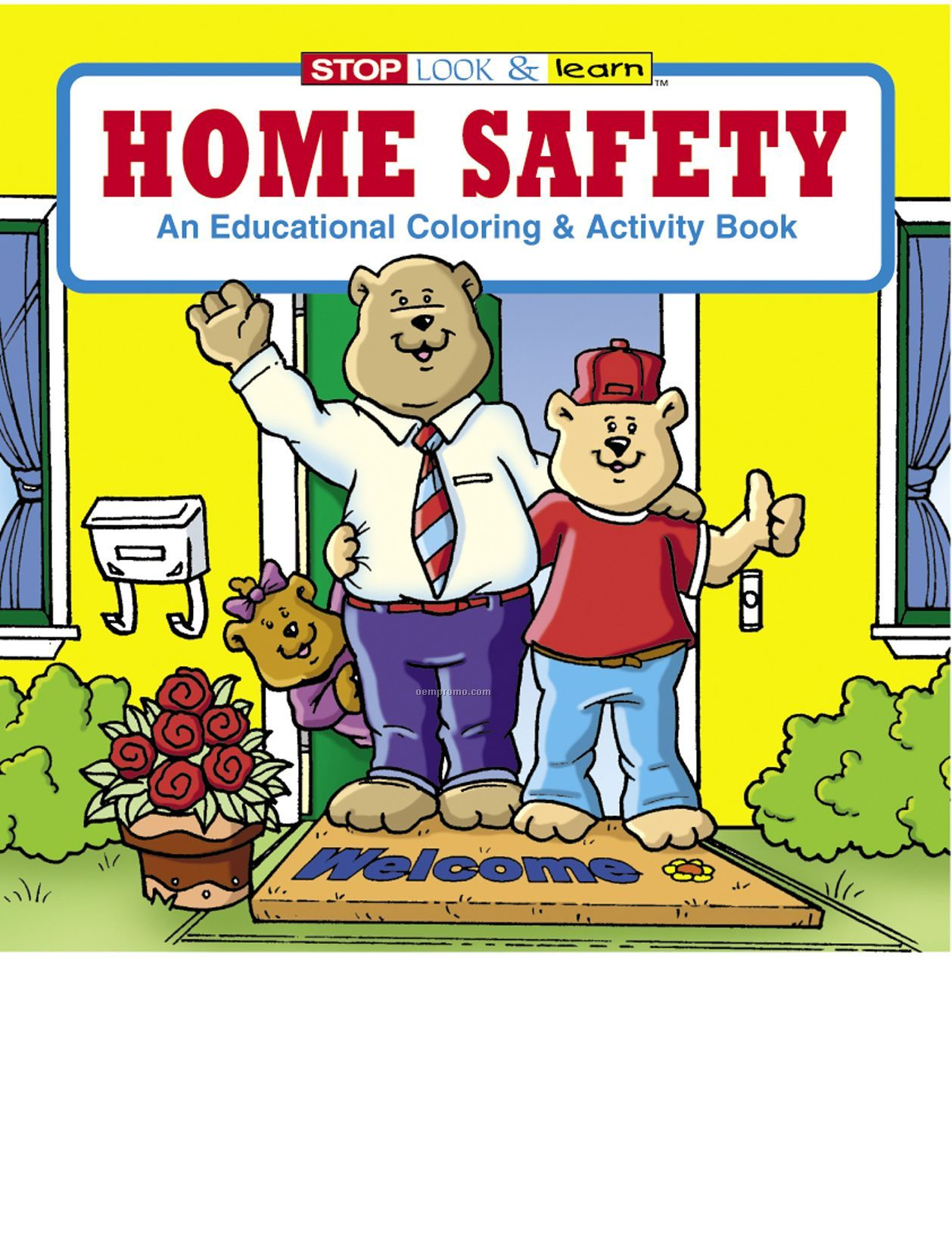 Home Safety Coloring Book Fun Pack