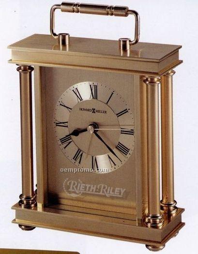 Howard Miller Audra Carriage Alarm Clock W/ Decorative Handle (Blank)