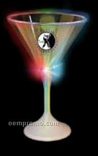 7 Oz. Lighted Martini Glass With White Base