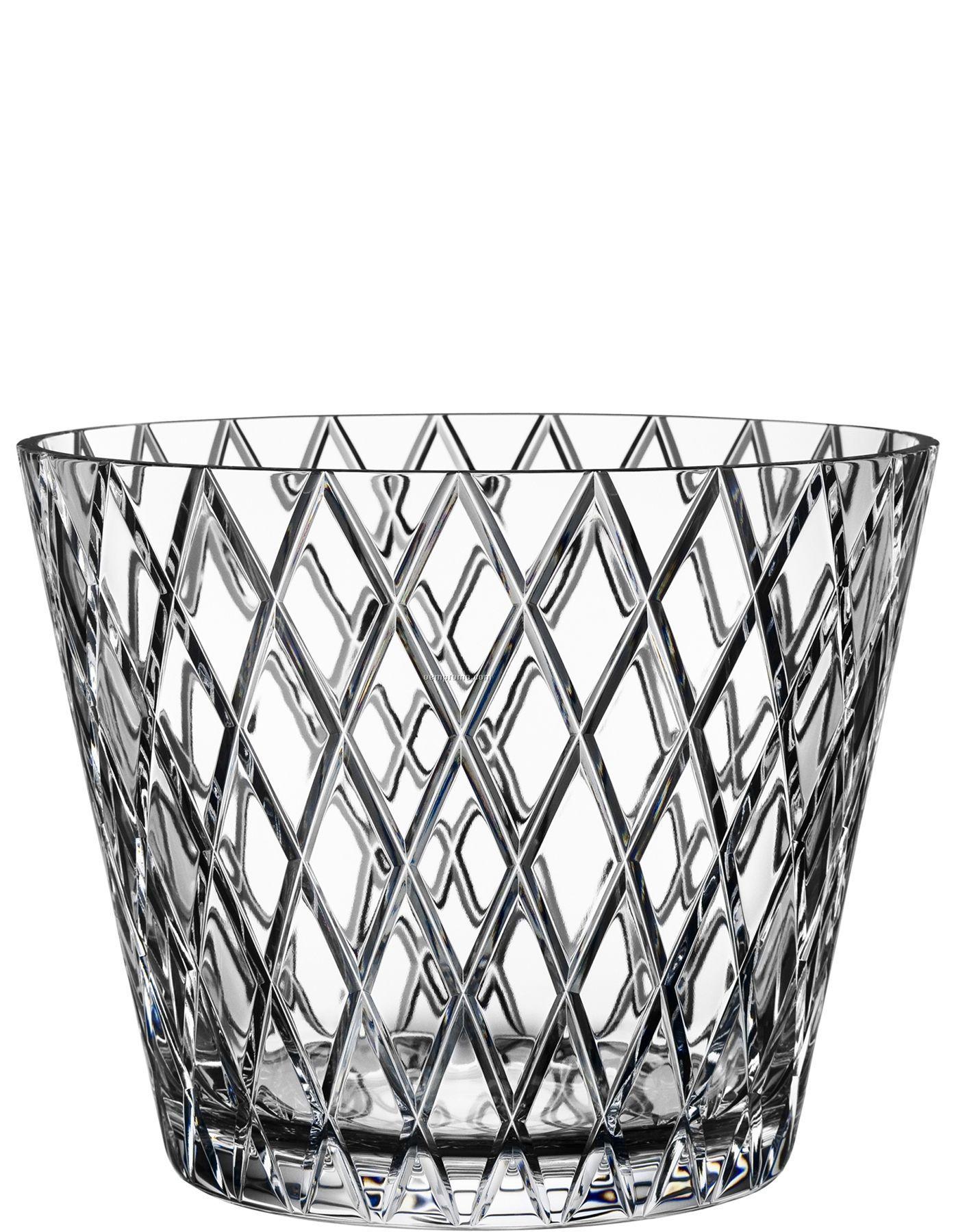 Crystal Diamond Silver Golden Round Flower Heart Anklet: Chess Crystal Bowl W/ Diamond Pattern By Ingegerd Raman