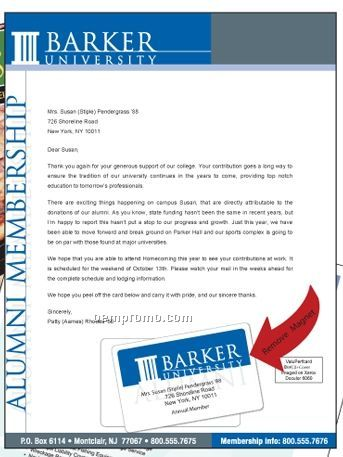 Letter Mag Letterhead Brochure With Magnet Card