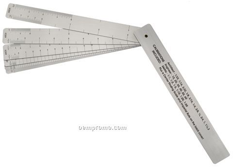 "6"" Drafting Fan W/Architect, Engineer And Metric Scales"