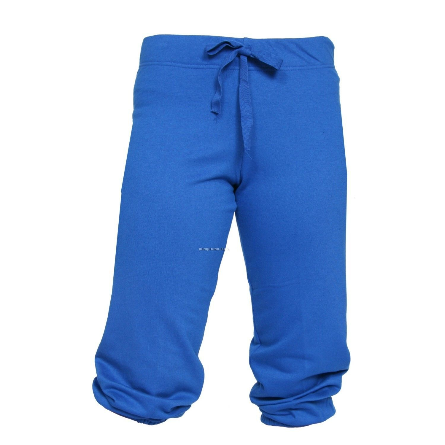 Adult Royal Blue Touchdown Cuffed Sweat Capris