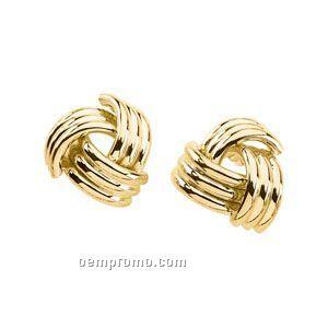14ky 14x15-1/2 Ladies' Metal Fashion Earring