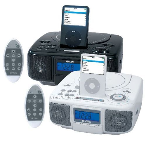 Jensen Jims210abk Docking Digital Music System With CD For Ipod