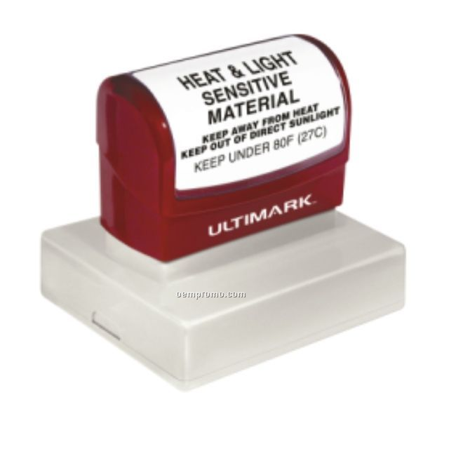 "Ultimark Pre-inked Rubber Stamp - 2.813""X2.312"" Imprint Area"