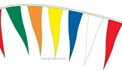 110' Change Of Pace Pennants W/ 80 Per String - Red/White/Blue