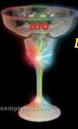 9 Oz. Lighted Margarita Glass With Lighted White Base & Stem