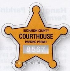 Badge Clear Polyester Die-cut Parking Permit Decal (Face Adhesive)
