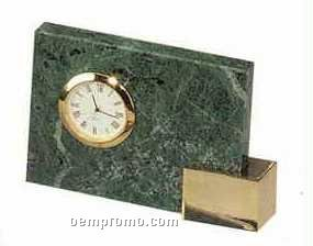 Green Marble Desk Accessories (Clock)