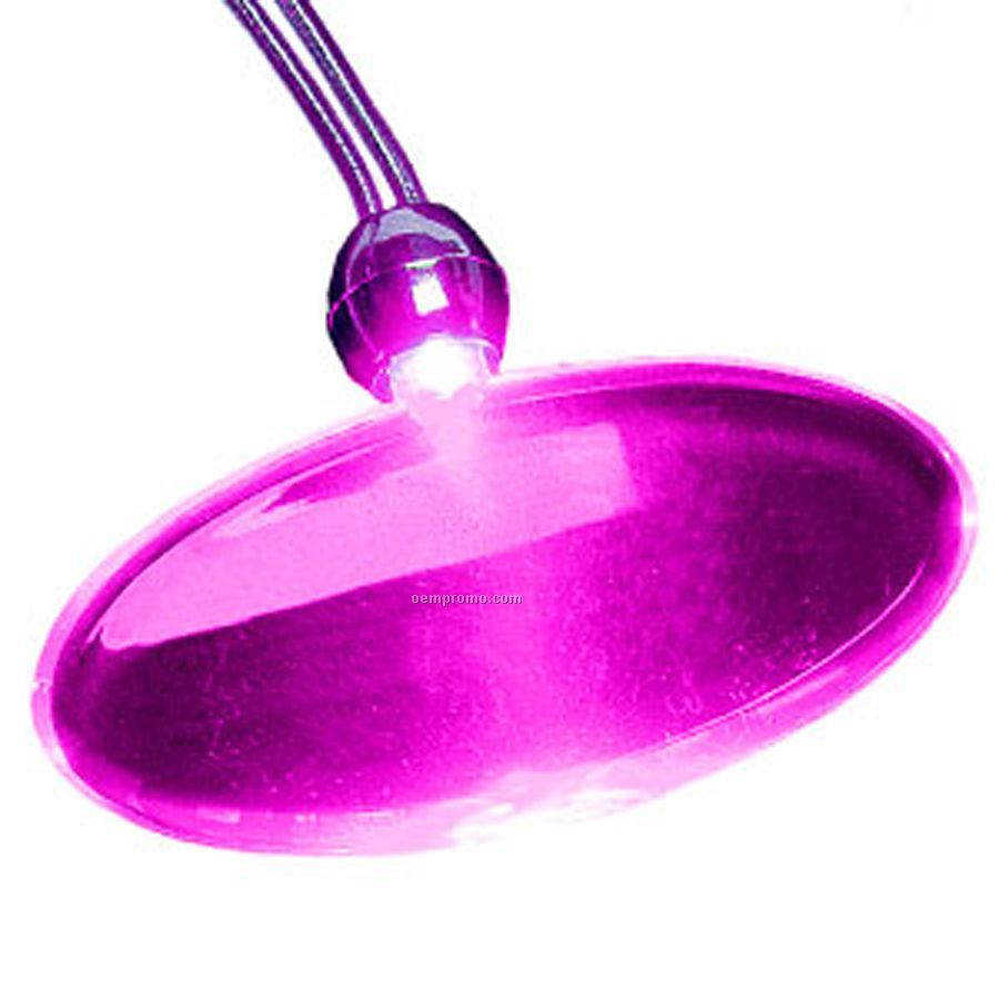 Pink Oval Light Up Pendant Necklace