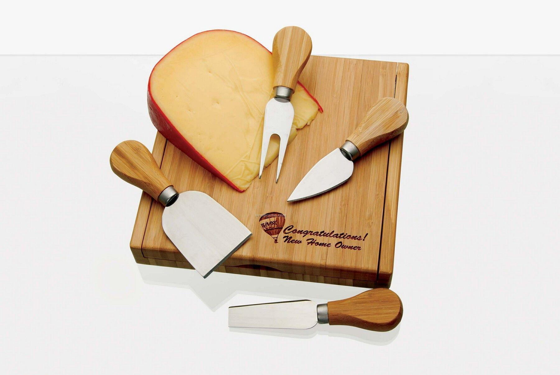 Rcc Koozie Bamboo Cheese Set