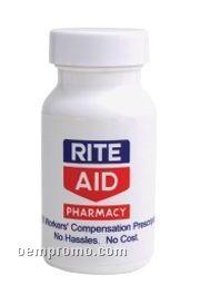 Small Empty White Pill Bottle