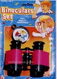 Toy Binocular And Compass Set