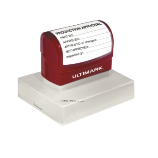 "Ultimark Pre-inked Rubber Stamp - 3.813""X2.813"" Imprint Area"