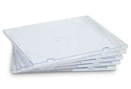 Clear Slim Single CD DVD Vcd Jewel Case Slim 5.2 Mm