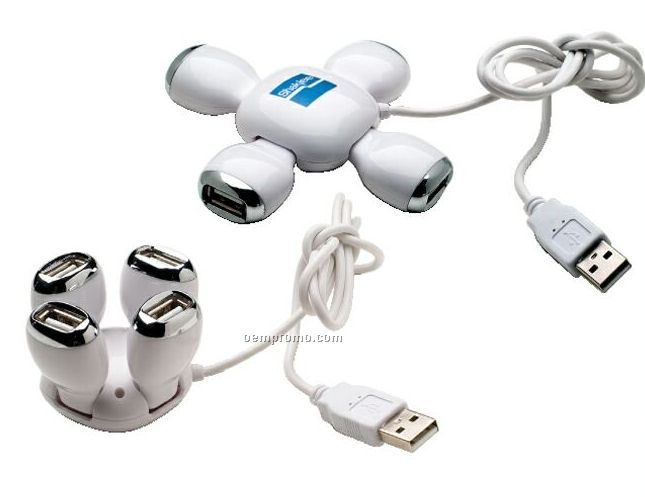 Folding 4 Port USB Hub