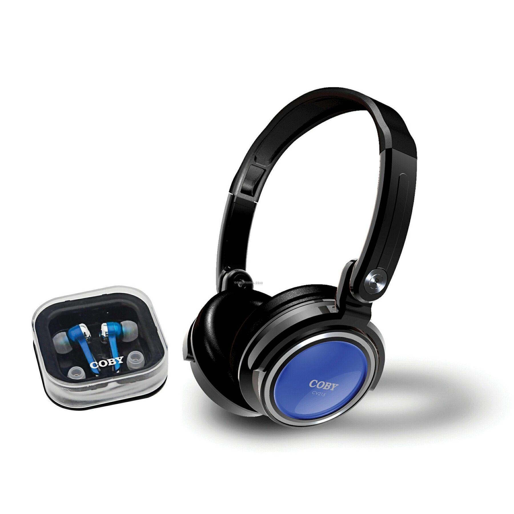Jammerz 2 In 1 Combo Deep Bass Stereo Headphones & Earphones