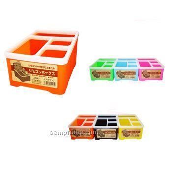 Quadrangle Remote Controller Storage Box/Container