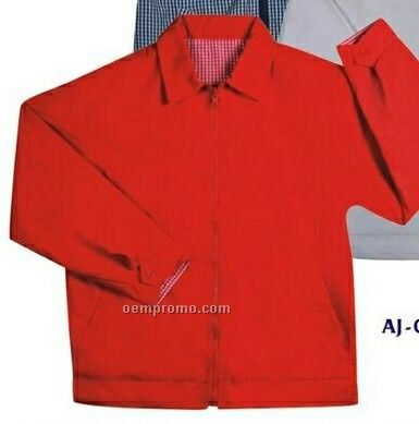 Soft Coated Micro Fiber Reversible Jacket W/ Cotton Lining